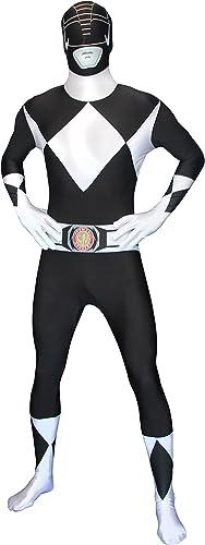 Offiziell SchwarzPower Ranger Morphsuit Verkleidung, Kostüm - Large - 5'5-5'9 (163cm-175cm)