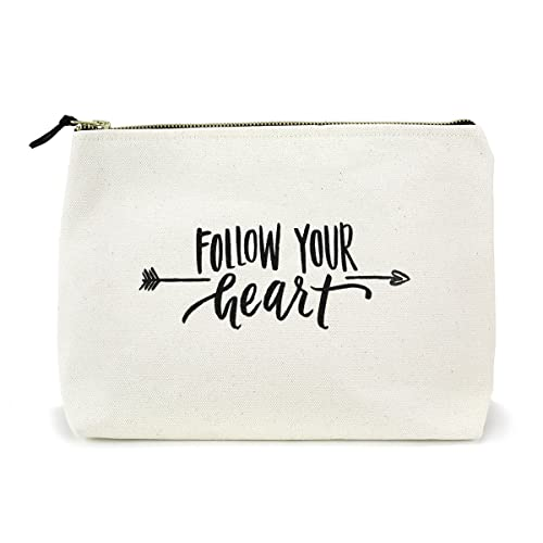 Canvas Makeup Bag with Quote and Brass Zip d4cddc8373cd4