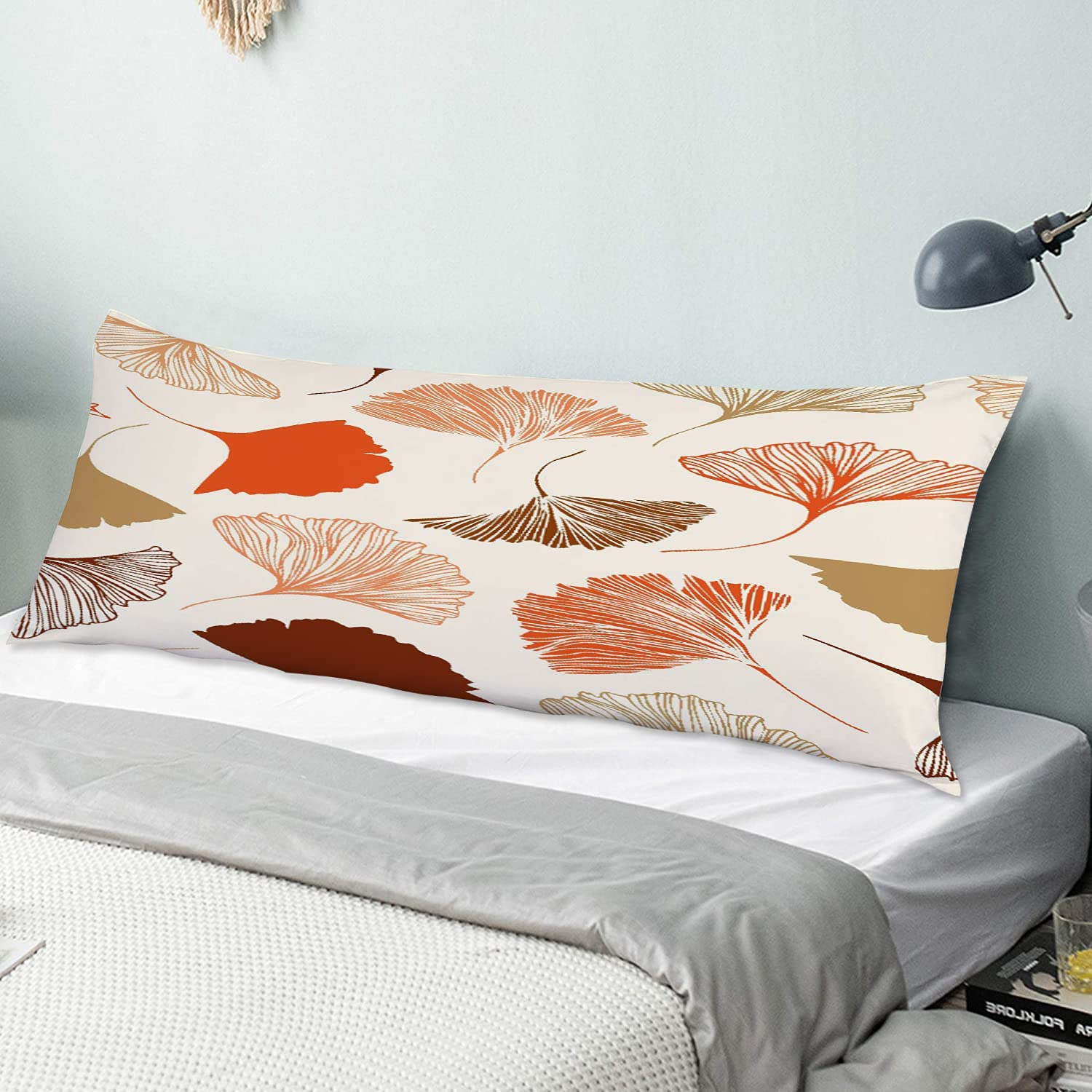 KENADVI Body Pillow Cover shop Pillowcase Ginkgo Genuine Free Shipping Leaves Beauty Floral