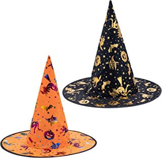 JYW Halloween Witch Hats Caps, Witch Costume Accessory for Adults and Kids, Halloween Christmas Witch Decoration, Party Co...