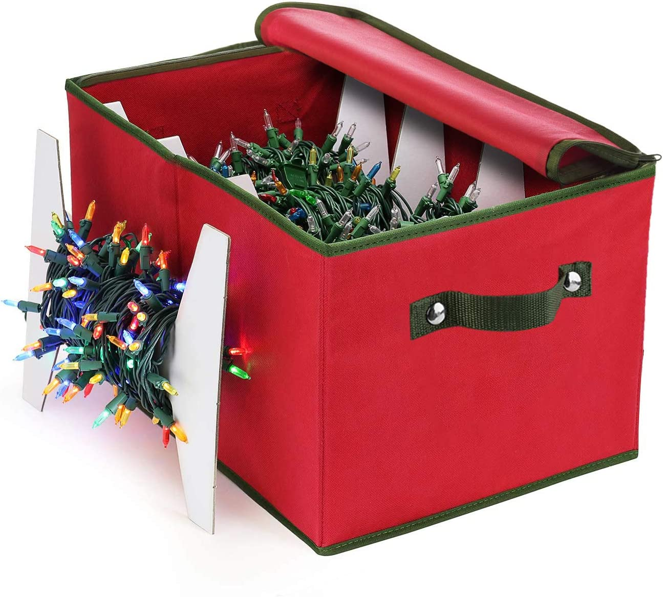 ZOBER Christmas Light Storage Box–Non-Woven with Denver Mall Large-scale sale C Fabric 4