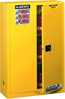 JUSTRITE 894500 Sure-Grip EX Standard Safety Cabinet, 43w x 18d x 65h, Yellow
