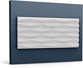 3d muurpaneel Orac Decor W112 MODERN RIDGE Wandpaneel Sierelement modern design wit 2 m
