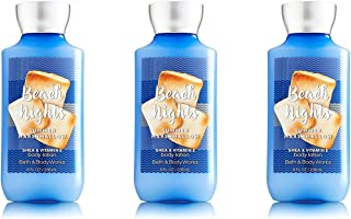Lot of 3 Bath & Body Works Beach Nights Summer Marshmallow Shea & Vitamin E Body Lotion 8 oz