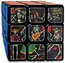 Sugar Skull Rose Music Guitar Unique Speed Cube 3x3 Smooth Magic Square Puzzle Game Black