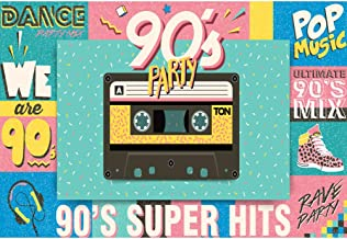 Yeele 6x4ft 90S Theme Party Backdrop for Photography Retro Style Club 90'S Super Hits Fashion Pop Music Background Cassette Tape Dance Kids Children Photo Booth Shoot Studio Props