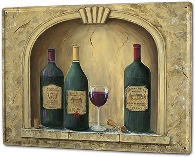 Nostalgic-Art - Placa metálica Decorativa, diseño de Vino Rosso ...