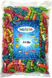 Tootsie chewy Fruit Rolls Assorted Flavors 3.5 Lbs individually wrapped
