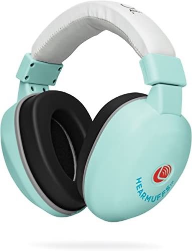 Lucid Audio HearMuffs Baby Hearing Protection (Over-The-Ear Sound Protection Ear Muffs Infant/Toddler/Child) (Spa Gre...