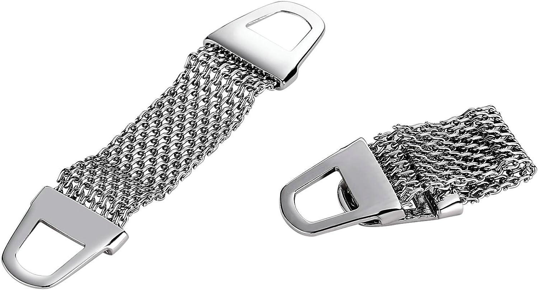 AMDXD Cuff Links Stainless Steel New York Mall Mesh Cufflinks Silver Max 55% OFF Men's 6.