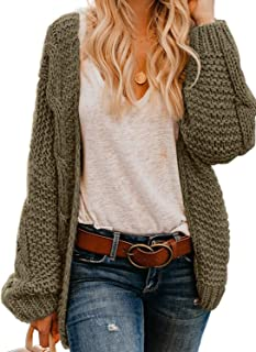 Womens Open Front Long Sleeve Thin Knit Cardigan Sweater S-XXL