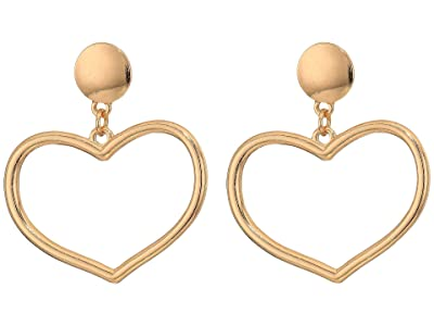 SHASHI Heart Hoop Earrings (Gold 1) Earring