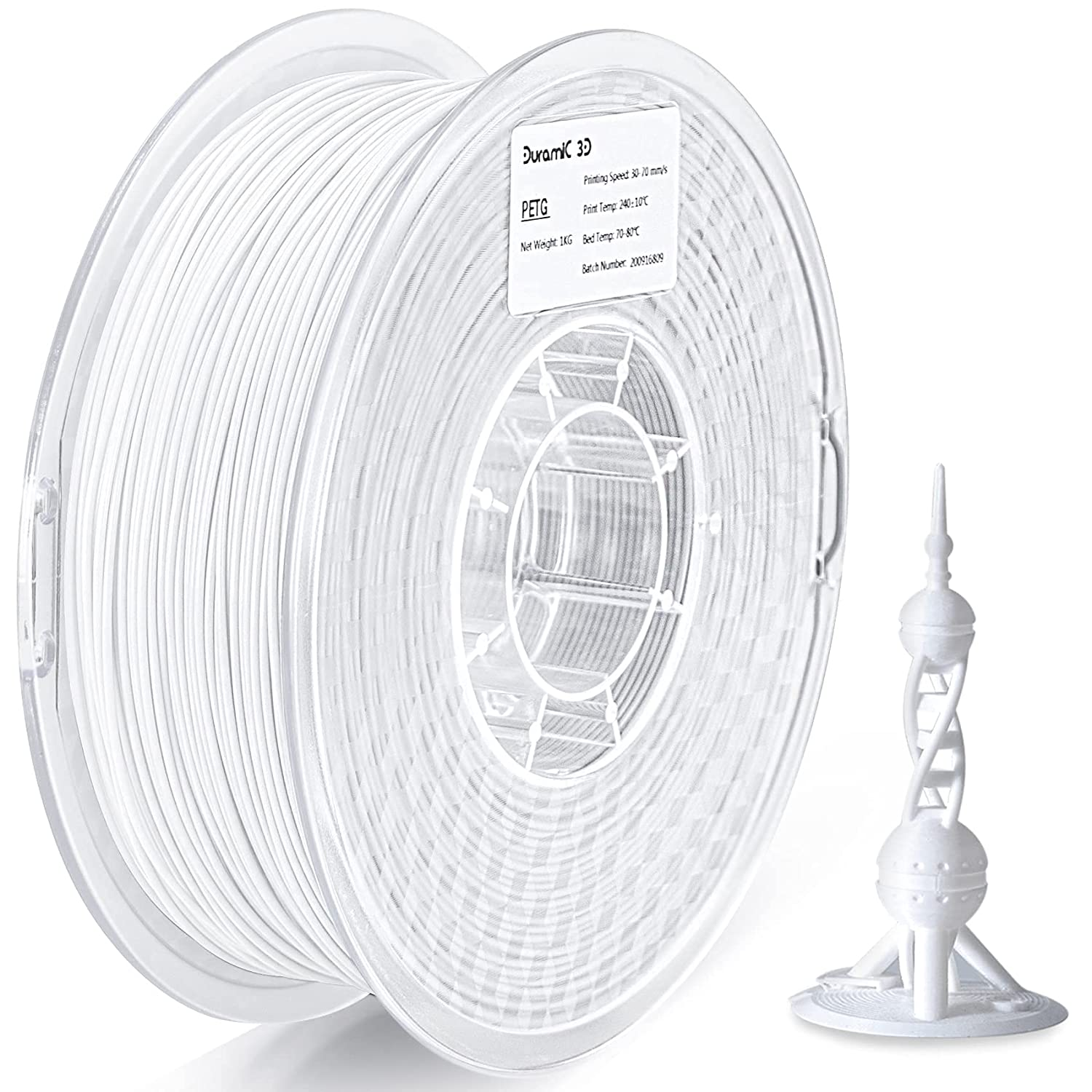 PETG New Challenge the lowest price of Japan ☆ Free Shipping Filament 1.75mm Duramic 3D FD Fit White 1kg