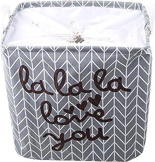 Rinclhu Panier à linge pliable grand panier de rangement pour organisateur de jouets de serviette de vêtements,Flèche gris...
