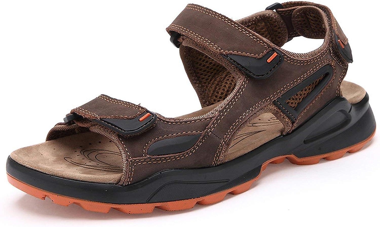 The Beste of us Breathable Men's Sandals Genuine Leather Summer Men Sandal Beach Causal Man shoes Plus Size 39-46 RXM008