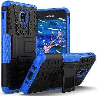 AZHEPU Galaxy J3 2018 Case,Galaxy J3 Star,J3 Orbit,J3 Achieve,Express/Amp Prime 3,J3 Aura,Sol 3 Case with Kickstand Holder, Rugged Protective Phone Cover Case for Samsung J3V J3 V 3rd Gen 2018 Blue