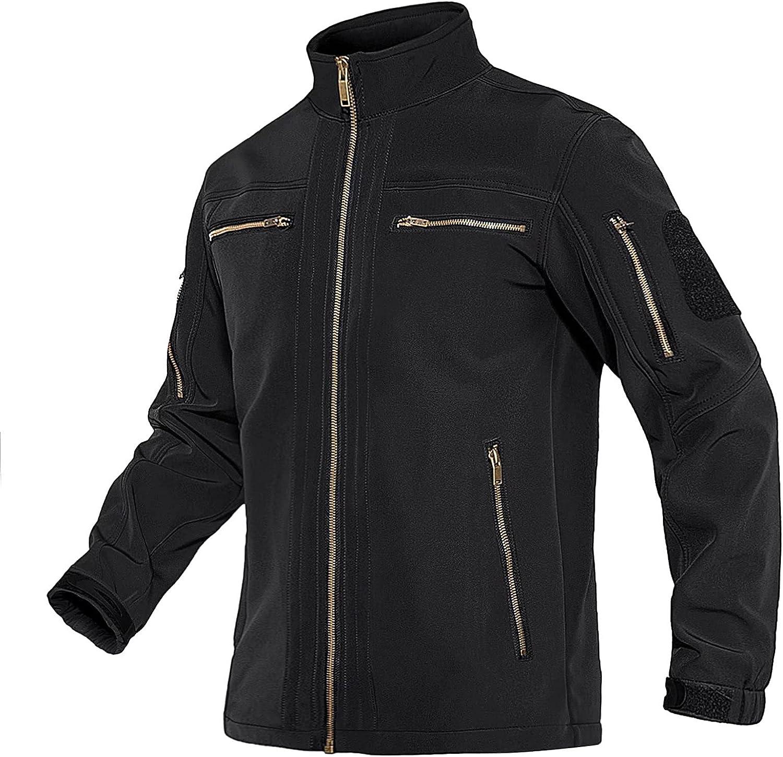 MAGNIVIT Men's SoftShell Jacket Fleece Ranking TOP5 Lined 70% OFF Outlet Tac Resistant Water
