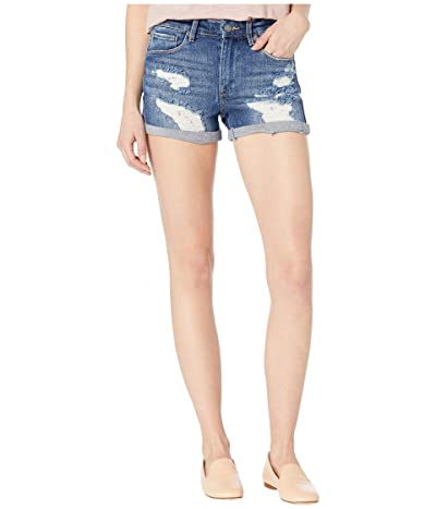 Blank NYC The Fulton High-Rise Denim Roll Up Shorts in Drastic Action (Drastic Action) Women