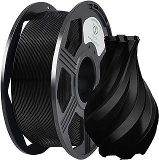YOYI Plus 3D Printer Filament, PLA Filament 1.75mm 1KG (2.2 lbs) Spool, Dimensional Accuracy +/- 0.03 mm, 100% Europe Raw Material (Black)