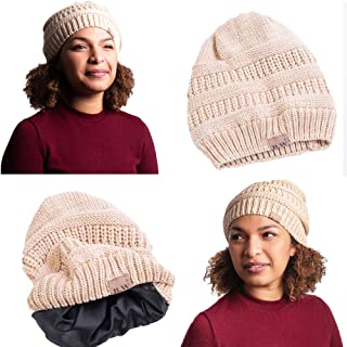 satin lined knit cap