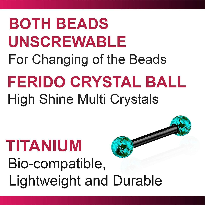 bodyjewellery 2pcs 16g Barbell Earrings Black Titanium G23 Helix Cartilage Anti Tragus Vertical Forward Triple Lobe Ferido Balls B2JCC