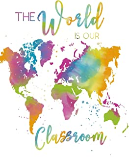 The World Is Our Classroom: 12 month undated Teacher Planner For Homeschoolers | Monthly and Weekly Lesson Planning | Password Tracker, Event Tracker, ... Grade Sheets and Attendance Checklist