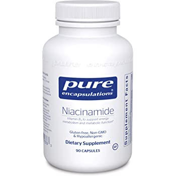 Pure Encapsulations - Niacinamide - Hypoallergenic Vitamin B3 to Support Energy Metabolism and Metabolic Function - 90 Capsules
