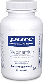 Pure Encapsulations - Niacinamide - Hypoallergenic Vitamin B3 to Support Energy Metabolism and Metabolic Function - 90 Cap...