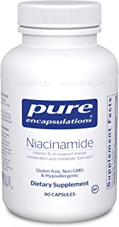 Pure Encapsulations - Niacinamide - Hypoallergenic Vitamin B3 to Support Energy Metabolism and Metabolic Function* - 90 Capsules