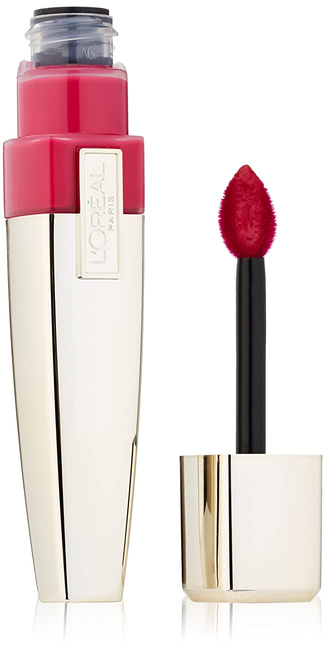 学んだ存在する余分なL'OREAL CARESSE WET SHINE LIP STAIN #187 INFINITE FUCHSIA