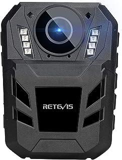 Retevis RT77B Bodycamera, door het Lichaam Gedragen Camera 1440P 4000mAh FHD-Videocamera, IP54 Draagbare Bodycam met IR-Na...