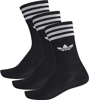 adidas, Solid Crew Black 3 Pares de Calcetines