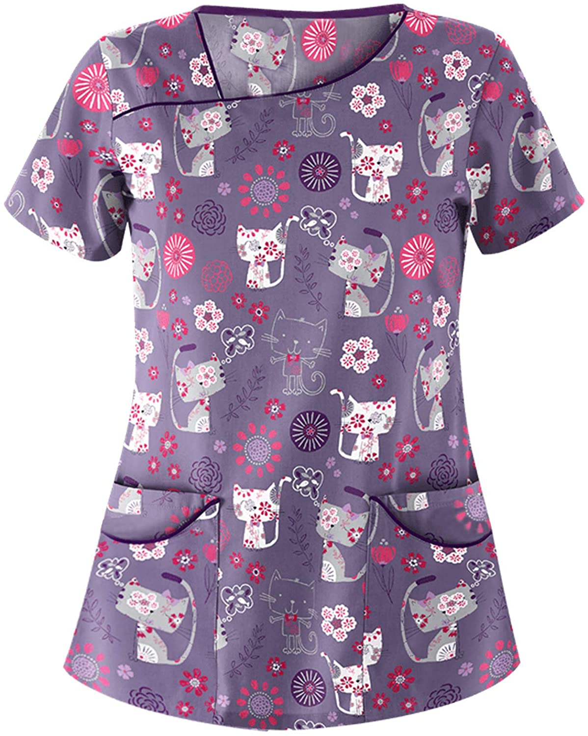 Funny Printed Scrub Industry No. 1 Tops Women Today's only Men T Neck Stretchy Holiday V Shi