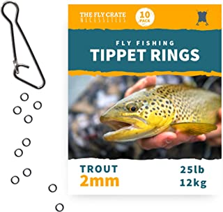 The Fly Crate Tippet Rings | 10 Pack | Lightweight Trout Leader and Fly Fishing Tippet Connectors