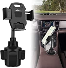 AONKEY Cup Holder Phone Mount, Height Adjustable Metal Stand Car Phone Cradle Fit for All Smartphones Include iPhone 11 Pro/11 Pro Max/XR/XS/XS Max/X/8/7, Galaxy S10/S10 Plus Note 9/Note 10 Plus