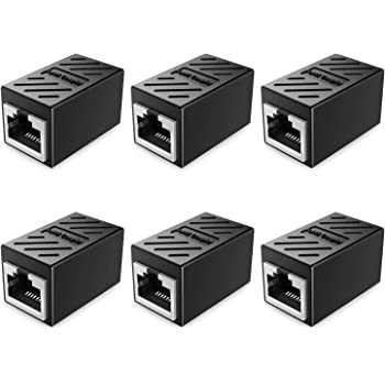 RJ45 Coupler Golden^Li 6 Pack Network Ethernet Cable in Line Coupler Cat7 Cat6 Cat6e Cat5e Cat5 Extender Adapter Connector for Extending The Ethernet Cables Female to Female