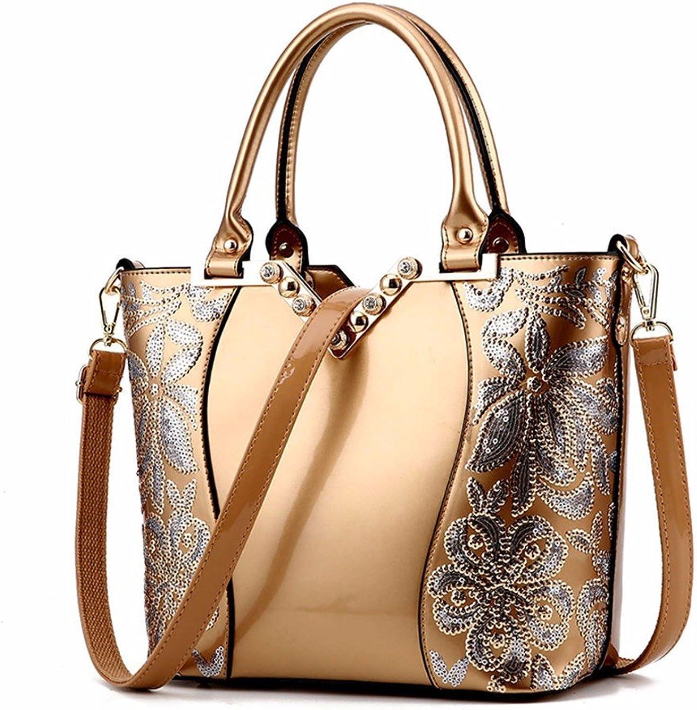 46fca7dcfa32b GQFGYYL Handtasche Handtasche Handtasche mit Lack Haut seitw auml rts Tasche