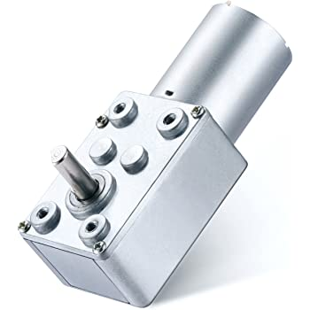 Pack of 2 Gearbox Worm Gear DC Motor Reducer 12V High Torque Turbine 100RPM