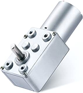 Greartisan DC 12V 250RPM Turbo Worm Geared Motor High Torque Turbine Worm Gear Box Reduction Motor 6mm Shaft JSX40-370