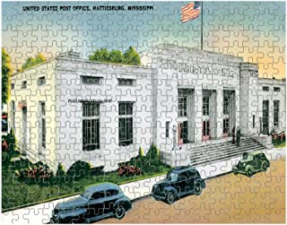 Us Post Office, Hattiesburg, Ms Jigsaw Puzzle Print 252 Pieces