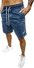OZONEE Herren Jeans Shorts Bermuda Hose Kurz Herrenjeans Jeanshose Stretch Regular Fit Bermudashorts Freizeitshorts Freizeithose Kneelang Straight Sportjeans DR/17103Z