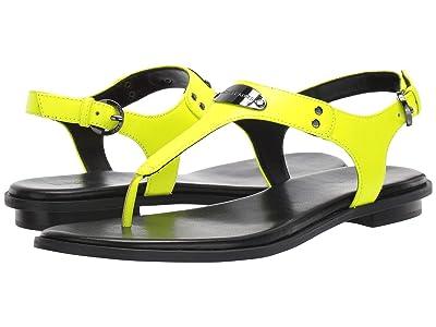 MICHAEL Michael Kors MK Plate Thong (Neon Yellow) Women