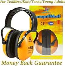Hearing Protection Earmuff/Headphone for Toddlers, Kids, Teens, and Adults. Amplim Noise Cancelling Headphones, Earmuffs for Kids Ear Defenders - Airplane/Concert/Outdoor/Lawn Mower - Radiant