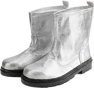 01 Chaussures de Protection, Bottes résistantes à la Chaleur durables, Bottes de sécurité Incendie Portables Professionnel...