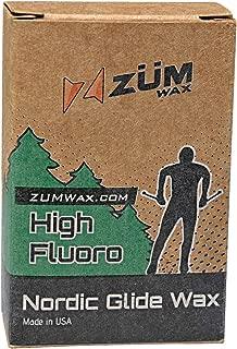 ZUMWax HIGH Fluoro Nordic/Cross-Country Racing Glide Wax - Warm Temperature. Environmentally Friendly & Non-Toxic!