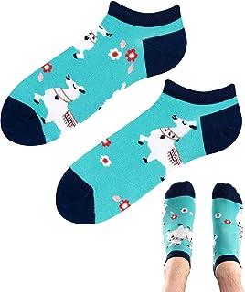 TODO, Colours - Calcetines deportivos con diseño de Alpaca Lama Low, divertidos calcetines de alpaca, multicolor, para hombre y mujer