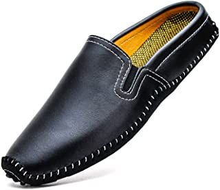 Sponsored Ad - YiCeirnier Mens Mules Clog Slippers Breathable Punching Leather Slip on Shoes Casual Loafers