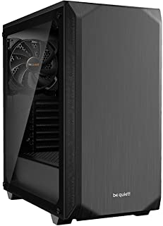 be quiet! BGW34 Pure Base 500 Window Black, ATX, midi Tower Computer case, Tempered Glass Window, Two preinstalled Fans