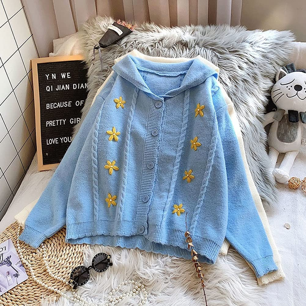 Inventory cleanup selling sale DJASM fzwt Knit Cardigans Sweater Women Loose Neck V Thicked Max 57% OFF Pul