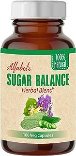 All Natural Sugar Balance - 100 Veg Caps - 15 Super Herbs - Healthy Glucose Levels - Bitter Melon, Huereque, Cactus (Nopal), Alfalfa, Fenugreek, Copalquin, Linden Star